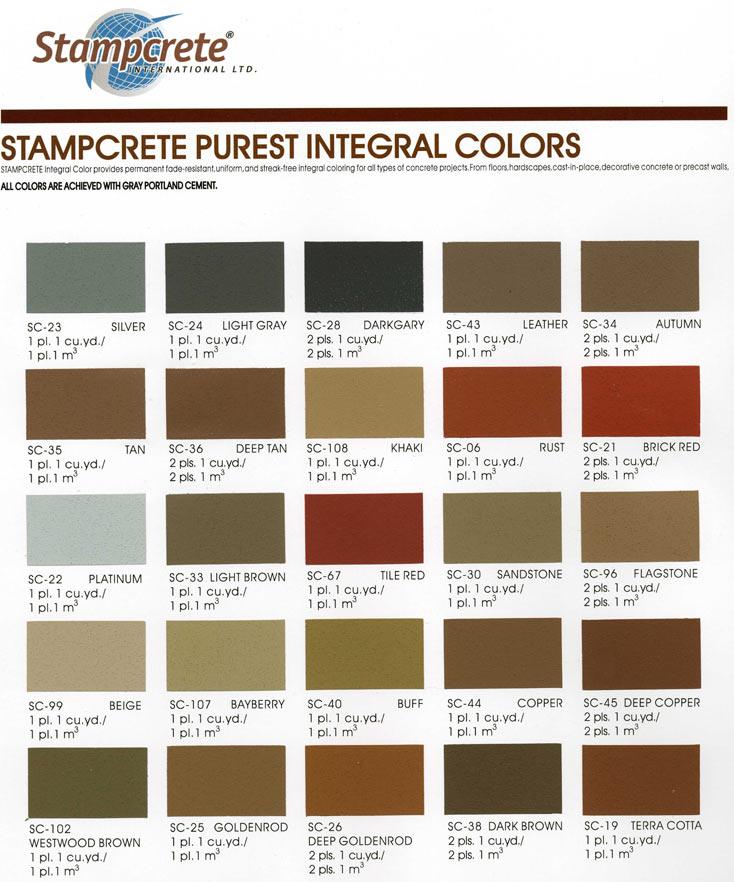 Khaki Color Chart